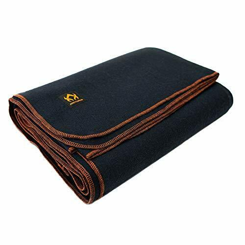 """Military Wool Blanket - 4.5 lbs, Warm, Thick, Washable, Large 64"""" x 88"""" - Navy"""