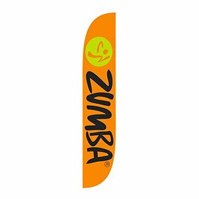 e14117c1d33968 Eye Catching Zumba Fitness Advertisement Sidewalk & Roadside Flag Sign (12')