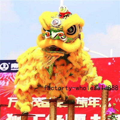 Lion Costume For Adults (LION MASCOT DANCE COSTUME WOOL SOUTHERN LION CHINESE FOLK ART FOR TWO)