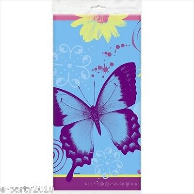 BUTTERFLY CHIC PLASTIC TABLE COVER ~ Birthday Party Supplies Cloth - Chic Party Supplies