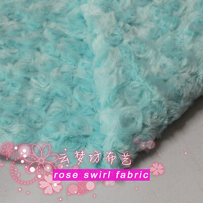 Ткань Aqua blue Rose Swirl Plush