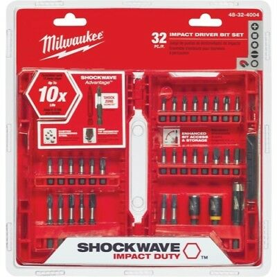 Milwaukee Electric Tools Bit Driver Impact Set 32 Piece 48-32-4004