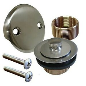 details about brushed nickel bathtub tub drain assembly bath area