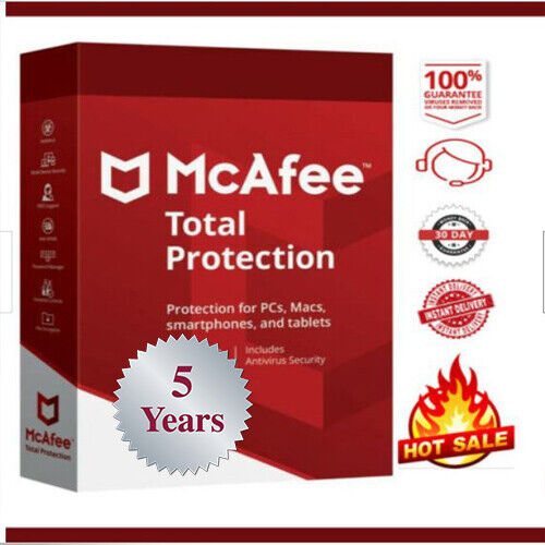 McAfee Total Protection 2020🔥1 Device / 5 Years🔥✅instant delivery📩