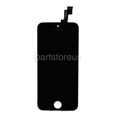 Glass Lcd - Black Front Glass LCD Display Touch Screen Digitizer Replace For iPhone 5S SE