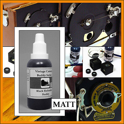 Vintage Camera Buddy Black paint for insides MATT 35 ml for Kodak Rochester