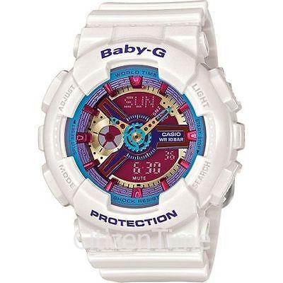 -NEW- Casio Baby-G White Analog & Digital Watch BA112-7A