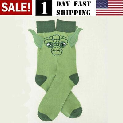 Men Women Star Wars Yoda Master Cotton Socks Stitching Funny Stockings US!