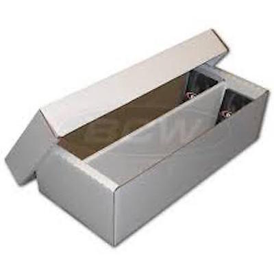 1600 Count BCW Shoe Box can use with 3x4 Top-Loaders - Free Shipping