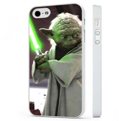 Yoda Star Wars Movie WHITE PHONE CASE COVER fits iPHONE