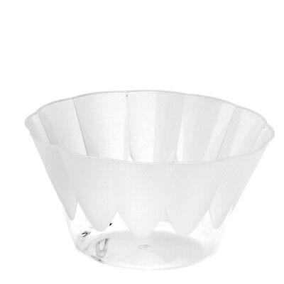 Eisschalen 20 Stück rund 400 ml Ø 12 cm glasklar Einweg Dessertbecher