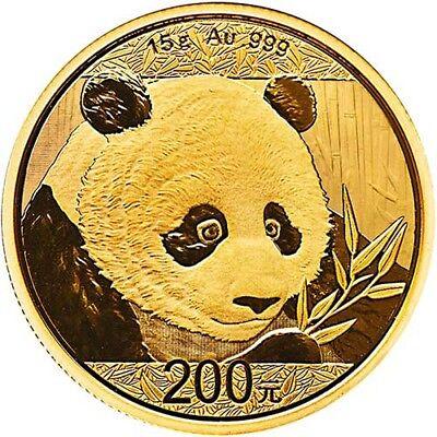 2018 15 Gram Chinese Gold Panda Coin (BU)