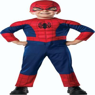 TODDLER MARVEL COMICS SPIDERMAN SUPER HERO COSTUME 3T RU620009T - Toddler Super Hero Costumes