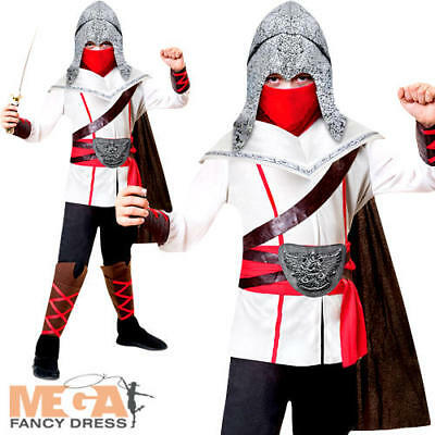 Assassin Ninja Boys Fancy Dress Japanese National Creed Kids Childrens Costume - Kids Assassin Creed Costume