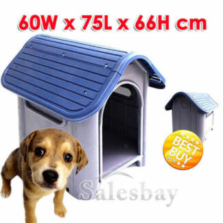 Large/Extra Large Solid Hard Plastic Pet Dog House Kennel