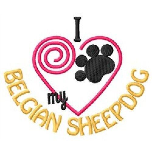 "I ""Heart"" My Belgian Sheepdog Ladies Fleece Jacket 1287-2 Size S - XXL"