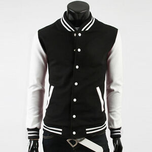 Mens Letterman Varsity Baseball jacket/College coat Uniform Trendy Coat S M L XL
