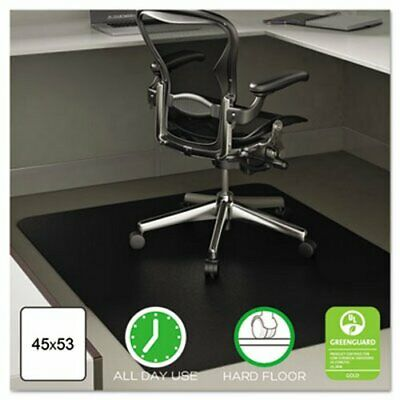 Deflect-o Anytime Use Chair Mat For Hard Floor 45 X 53 Black Defcm21242blk