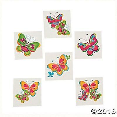 72 Butterfly Temporary Tattoos Kids Birthday Party Favors Gifts  - Butterfly Party Favors