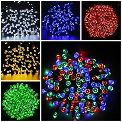 Solar Powered 100 200 LEDs String Fairy Tree Light Outdoor W