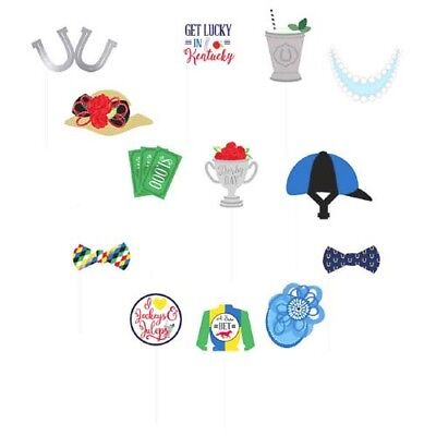 KENTUCKY DERBY PHOTO PROP SET (13pc) ~ Birthday Party Supplies Decorations Favor - Kentucky Derby Party Decorations