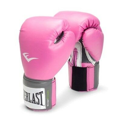 Everlast Pro Style 12OZ Womens Pink Trainning Gloves MMA 2512W