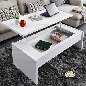 New High Gloss White Modern Multifunction Lift Top Coffee Table W Storage Ebay