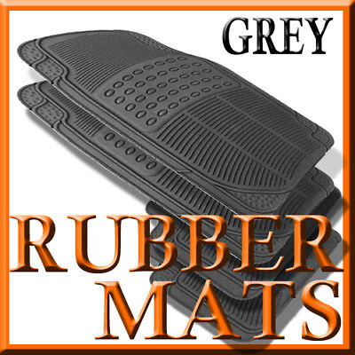Fits Ford TAURUS ALL WEATHER GREY RUBBER FLOOR (1991 Ford Taurus Rubber)