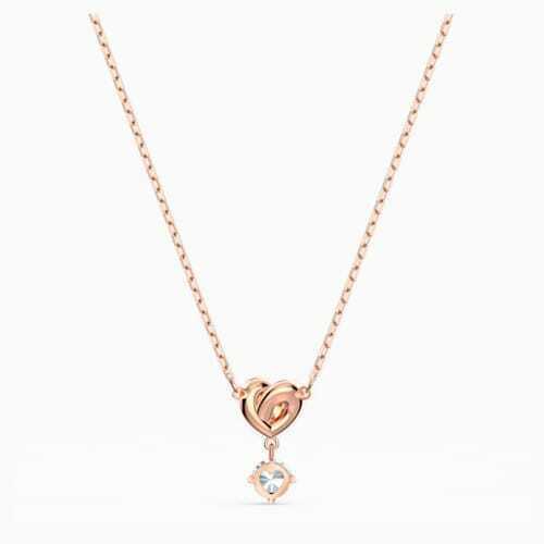 SWAROVSKI CRYSTAL LIFELONG HEART PENDANT ROSE GOLD 5516542.NEW IN BOX