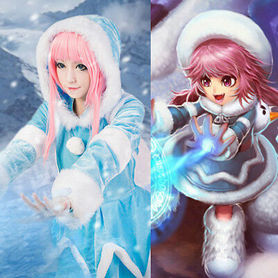 League of legends LOL Frostfire Frozen Annie Cosplay - Annie Lol Cosplay Kostüm