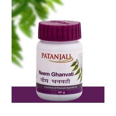 PATANJAI DIVYA AYURVEDIC MEDICINE NEEM GHAN VATI 60 Tablets  - REDUCING (Ayurvedic Medicine)