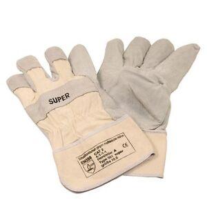 24 Paar Arbeitsschutz-Handschuhe, Größe:10,5 aus Rind-/Spaltleder EN388-CAT.2 CE