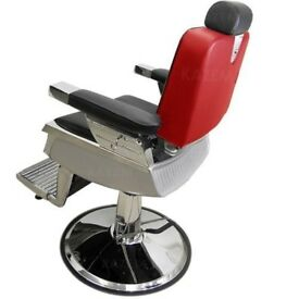 BOXED hydraulic red nelson barber chairs for sale