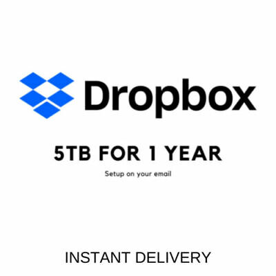 Dropbox 5 Tb 1 Year Account Superfast Delivery Lobster Digital