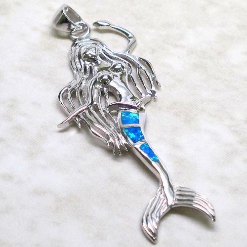 Sterling Silver Mermaid Pendant