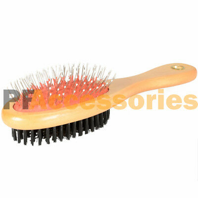 Double Side Bristle   Pin Pet Dog Cat Hair Grooming Brush Fur Shedding Tool New
