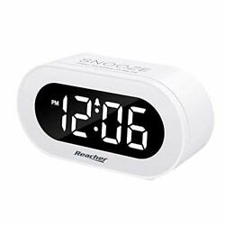 REACHER Small LED Digital Alarm Clock with Snooze, Simple to With 0-100 Dimmer