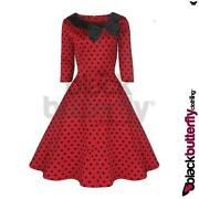 Red Polka Dot Rockabilly Dress