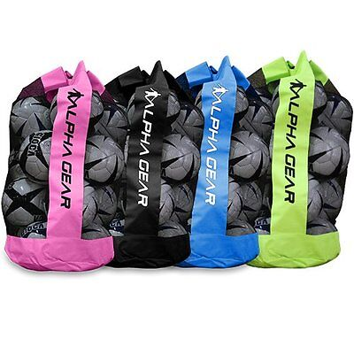 ALPHA Gear QUALITY Ball Bag - Carry Up To 12 Full Size Soccer Balls - 4 Colours