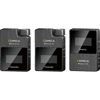 Comica Audio BoomX-D D2 2-Person Wireless Microphone System for Cameras 2.4 GHz
