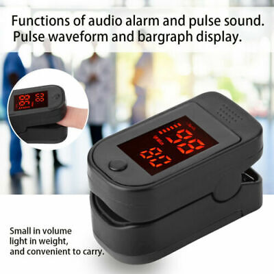 Oxygen Saturation Monitor Digital Finger Pulse Oximeter Home Nurse Doctor Pouch