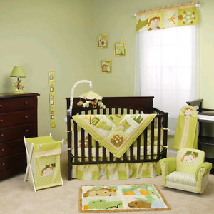 Nursery bedding set - lambs and ivy brand.