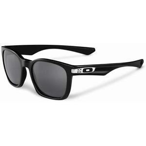 oakley womens garage rock sunglasses  new oakley oo9175 01 garage rock polished black frame grey mens sunglasses