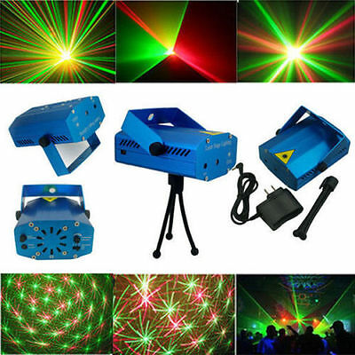 Super Mini Projector Stage Light R&G DJ Disco Laser Party Lighting Xmas KTV Show