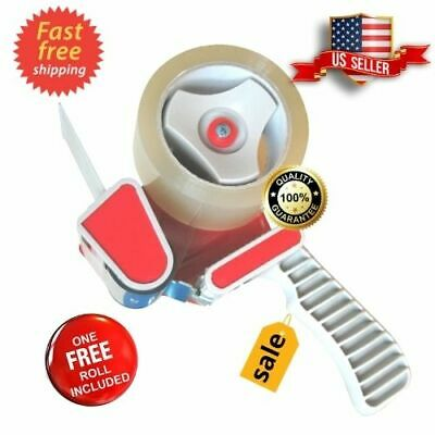 Heavy Duty Packing Tape Gun Dispenser 2 Tape Dispenser Box Sealing Free Roll