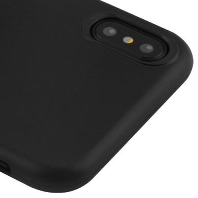 For iPhone X / XS -Black TPU Rubber Silicone Plastic Leather Slim Fit Case Cover Black Rubberized Plastic Case