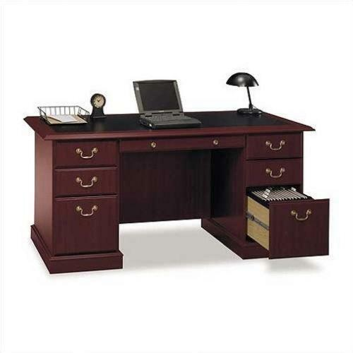 Warm Cherry Executive Desk Home Office Collection: Solid Cherry Desk