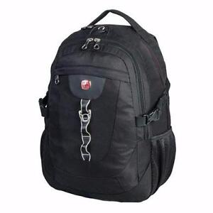 "Authentic Swiss Gear Backpack Laptop Bag 15.6"" Laptop SWA1825 Black"