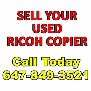 We Buy off-lease Used Ricoh Copier Sell Your Used Copy Machine