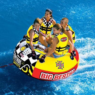 SportsStuff Big Bertha Inflatable Water Tube 1-4 Rider Boat Tow Towable 53-1329 Big Bertha Towable Tube